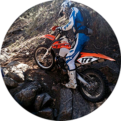 dirt bike off-roading with Dirt Tricks sprocket