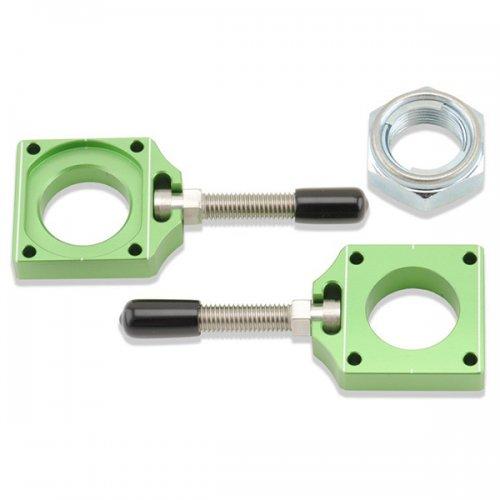 Green Kawasaki Axle Blocks